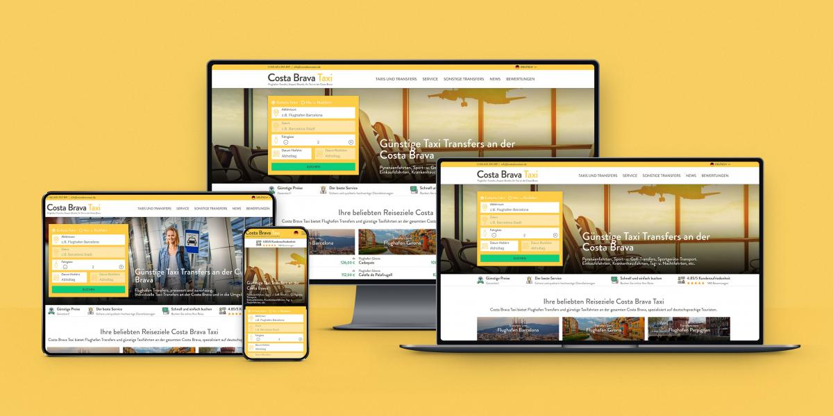 Costa Brava Taxi startet neue Website und News Design